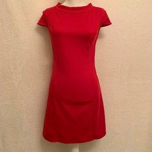 Ann Taylor LOFT Red Short Sleeve Dress SZ 0